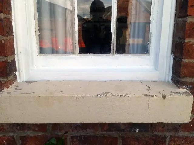 Sash Window sill repairs Tudor Carpentry Shrewsbury Shropshire Carpenters