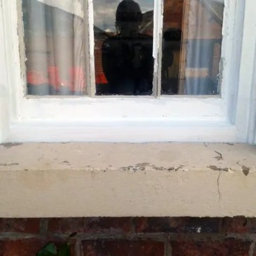 Sash Window sill repairs Tudor Carpentry Shrewsbury Shropshire Carpenters