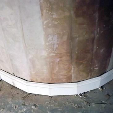 Skirting around curved wall Tudor Carpentry Shrewsbury Shropshire Carpenters