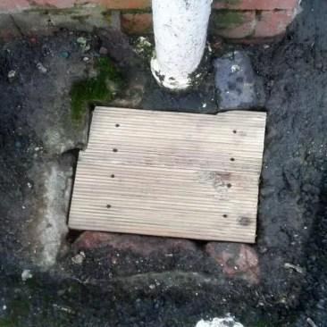 Timber Covered Drain Tudor Carpentry Shrewsbury Shropshire Carpenters