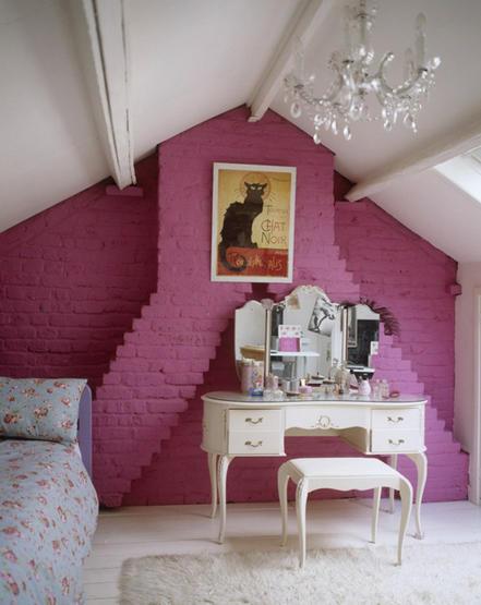 2 Hot Pink Bedrooms With Vintage Fabrics  Tudorks