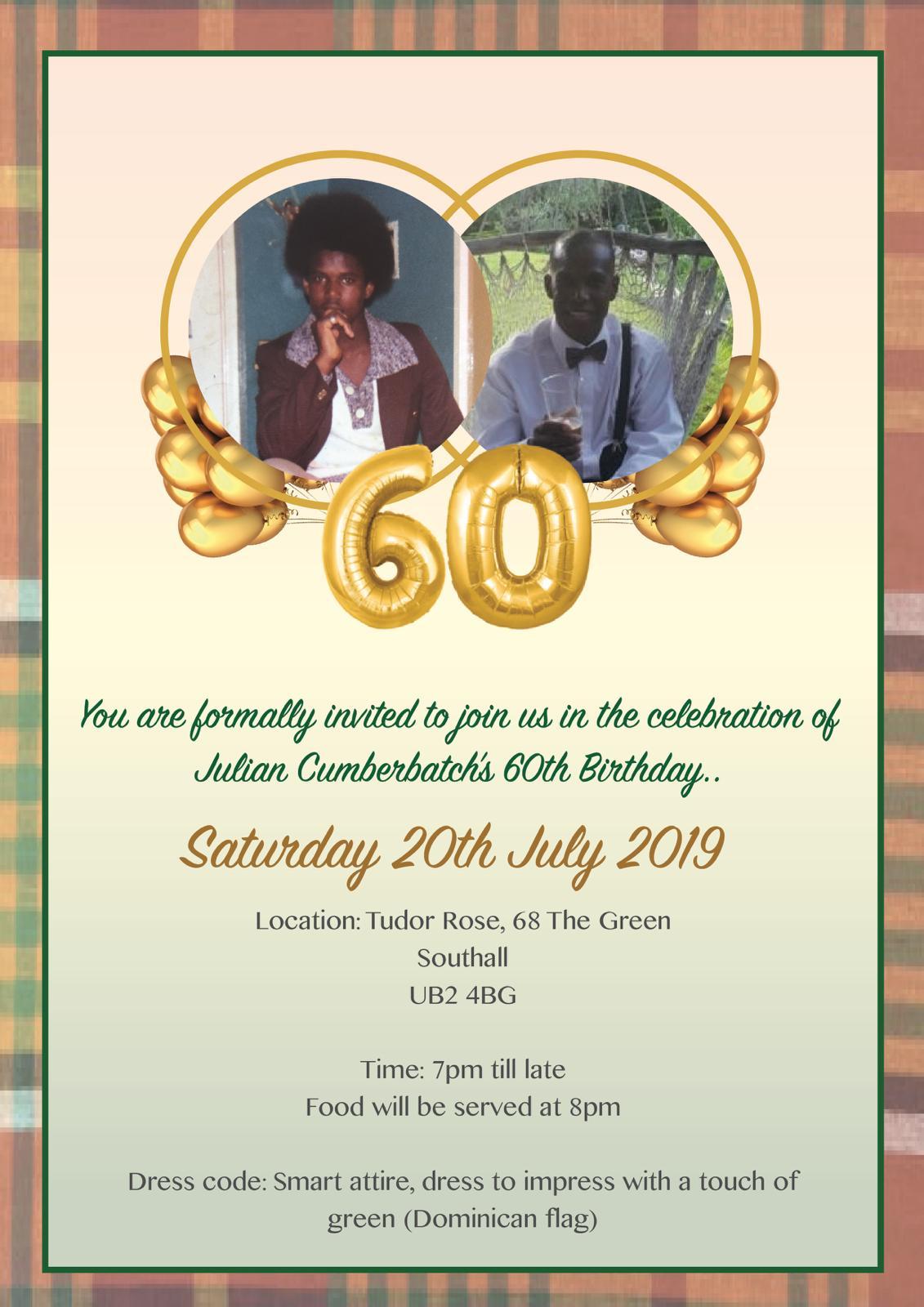 Julian Cumberbatch's 60th Birthday 1