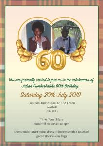 Julian Cumberbatch's 60th Birthday 2