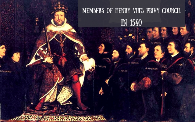 Members of Henry VIII's Privy Council in 1540