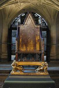 Coronation Chair at Westminster Abbey