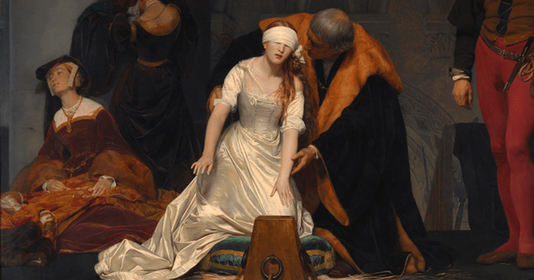 Execution of Lady Jane Grey - Cropped