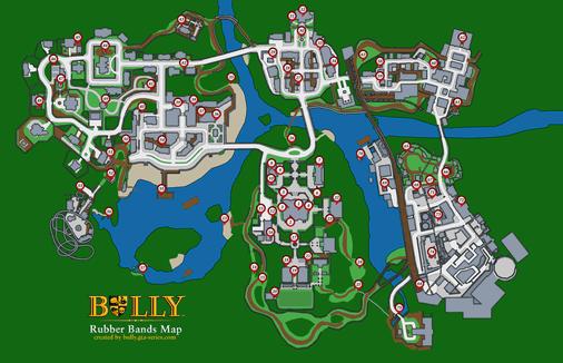 Mapas Dos Colecionaveis Tudo Sobre Bully