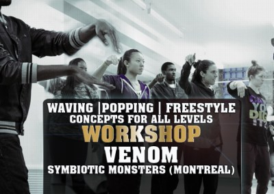 Dance Workshop: Waving, Popping, & Freestyle Concepts for All-Levels with VENOM