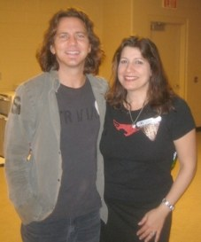 """""""Me and Eddie Vedder backstage in 2005 First Union Center, Philadelphia. My nephew, Peter, is friends with Eddie. Glad I wore my shirt from Pearl Jam's 2004 """"Move-On"""" tour when I met him!"""""""