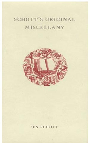 TueNight Lists Schotts Original Miscellany