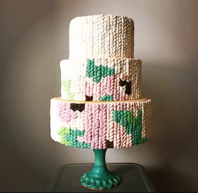 tuenight foodie lani halliday knit cake