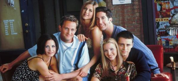 The cast of Friends, in an original publicity still.