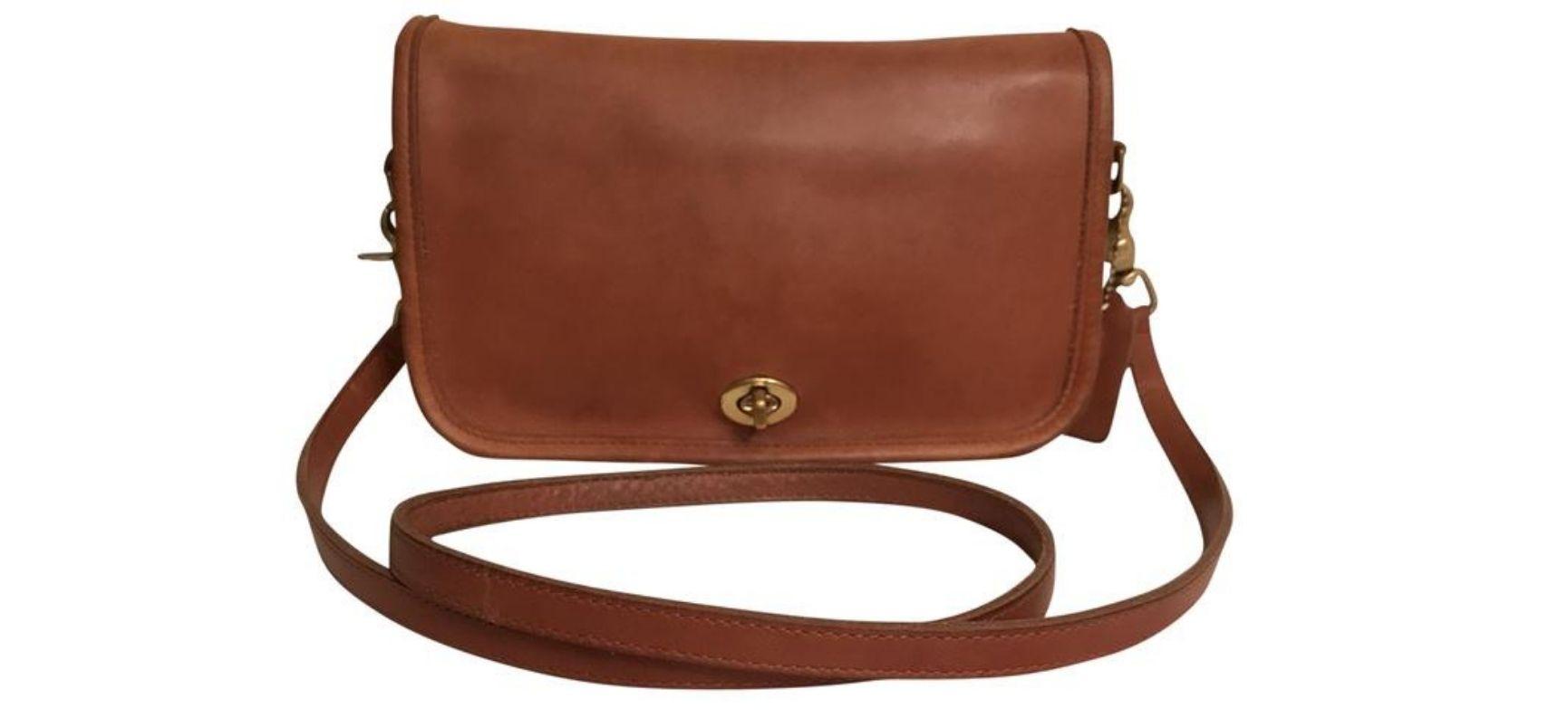 Brown 1980s Coach purse