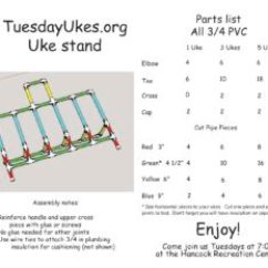 Folding Chair Uke Chords Diy Outdoor Cushion Covers 2 Tuesday Ukes On Tuesdays In Austin Texas Marty Designed And Built A Great Lightweight Ukulele Stand That We Re Using For Our Loaner You Can Build It 1 3 Or 5 Ukuleles Enough