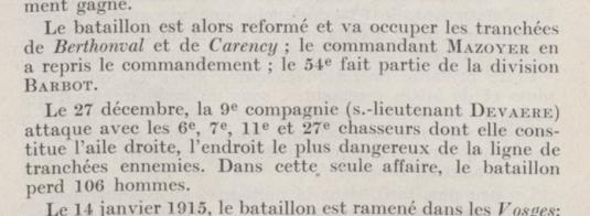 Détail de la journée du 27/12/1914
