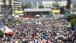 Así lució la plaza El Salvador del Mundo durante la misa de beatificación. Fotos de Marvin Recinos/AFP/Getty Images