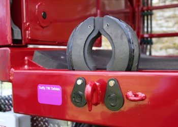 Hydraulic Leg Restraints for Hoof Trimming Chute