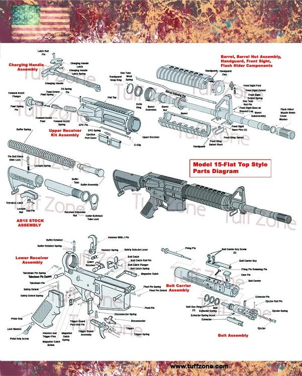 Ar Parts Diagram : parts, diagram, Diagram, Poster, 16x20