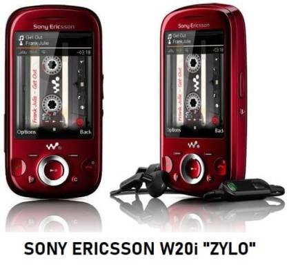 Sony Ericsson W20i Zylo Nebulla Red