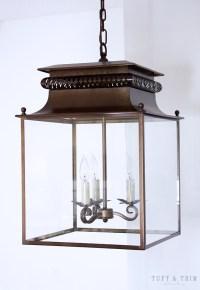 Kitchen Lighting Update Reveal- Farmhouse Style Lanterns