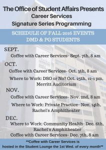 Career Services Signature Series Flyer