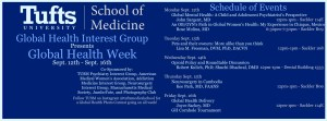 TUSM Global Health Week @ Tufts University School of Medicine, Tufts University School of Dental Medicine, Jaharis Courtyard | Boston | Massachusetts | United States