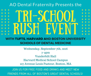 Alpha Omega: Tri School Rush Event | Dental Central