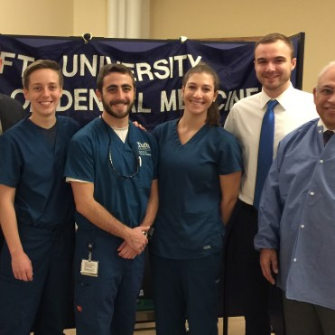 (R to L) Dr. Nehring, Carly Martin, Alec Eidelman, Lauren Trager, Nick Vaillancourt, Dr. Mehta