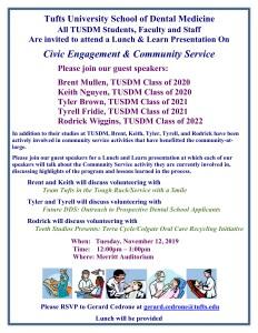 Dean's Lunch & Learn: Civic Engagement & Community Service @ Merritt Auditorium