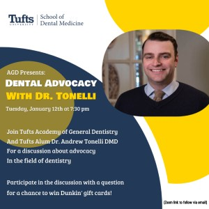 AGD Presents: Dental Advocacy with Dr. Tonelli @ Zoom
