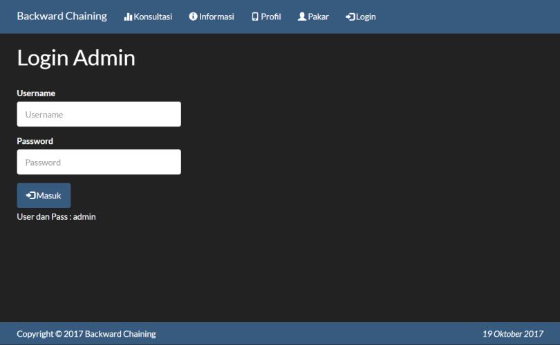 Sistem Pakar Backward Chaining PHP Login