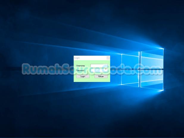 Sistem Pakar Metode Dempster Shafer VB Form Login