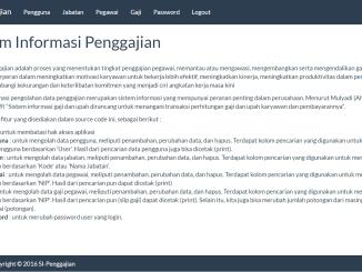 Source Code Sistem Informasi Penggajian dengan PHP