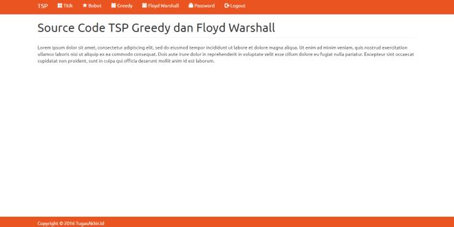 TSP Greedy dan Floyd Warshall