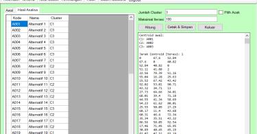 Source Code Data Mining Clustering Metode K-Means VB