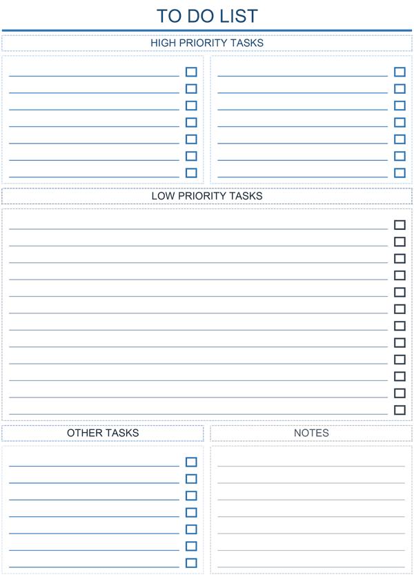 Prioritized Task List