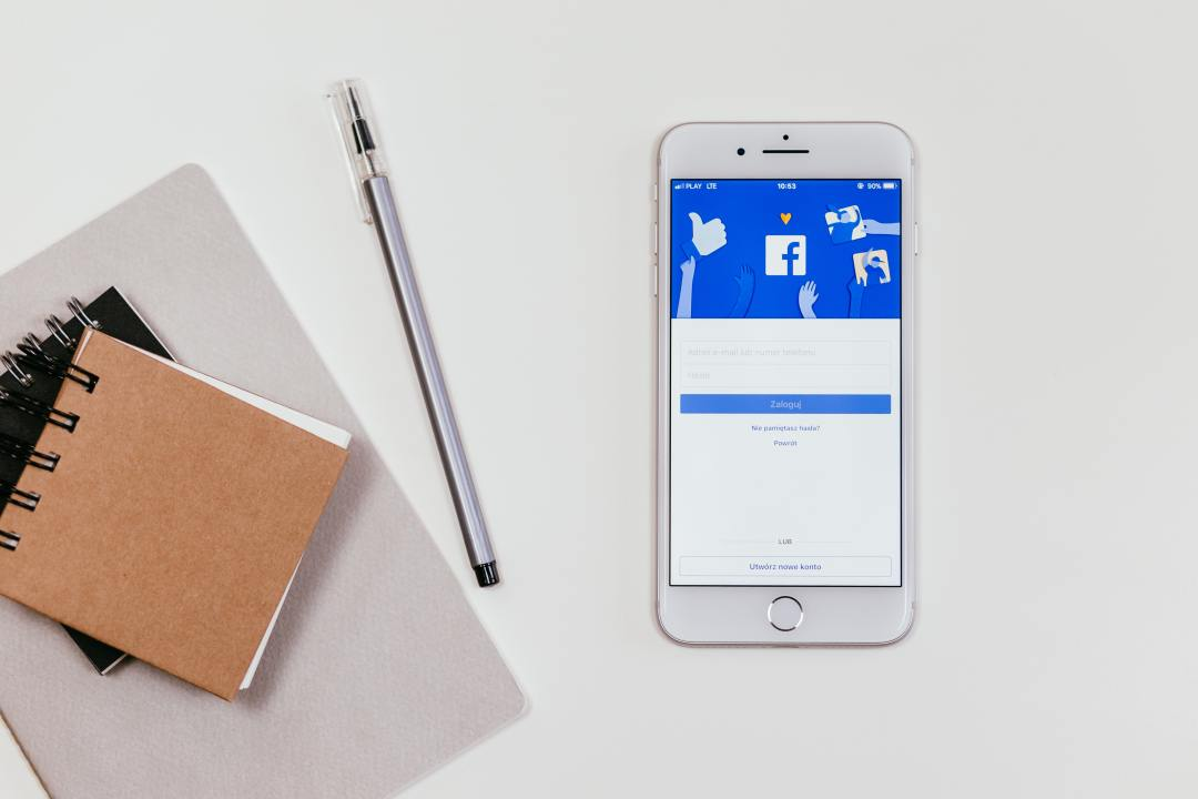 facebook on mobile screen