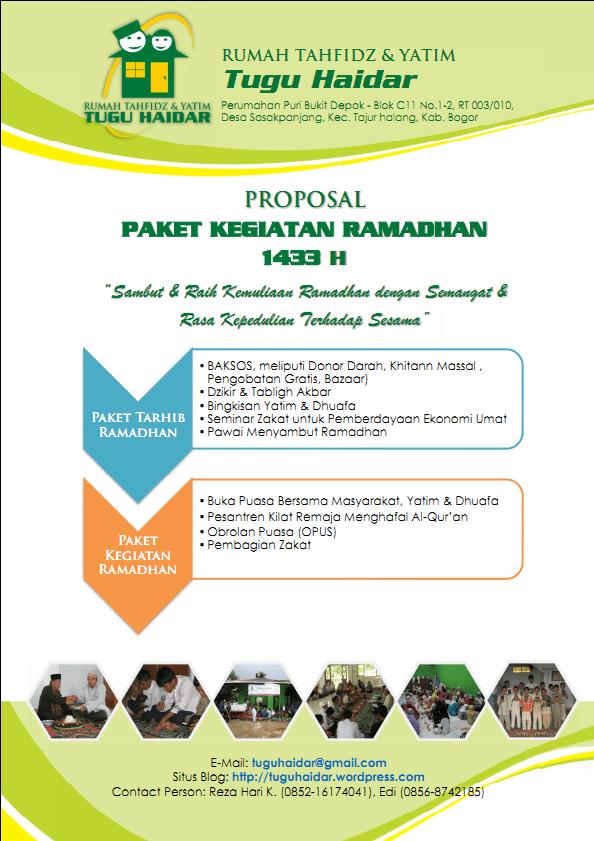 Proposal Kegiatan Ramadhan 1433 H  Rumah Tahfidz  Yatim
