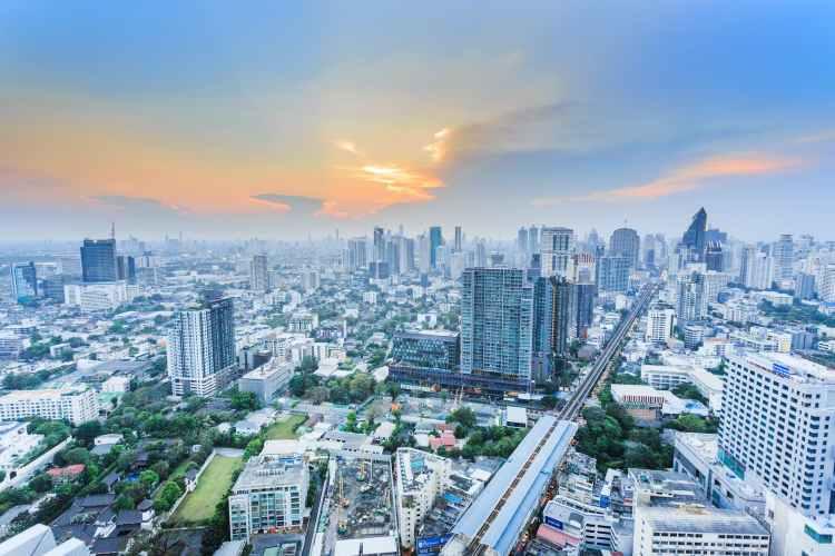 Bangkok, la capital de Tailandia.