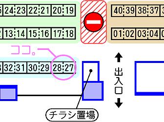 スペース付近の地図