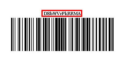バーコードに記載されている返品ID