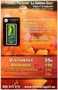 160917 SER, Cartel del torneo