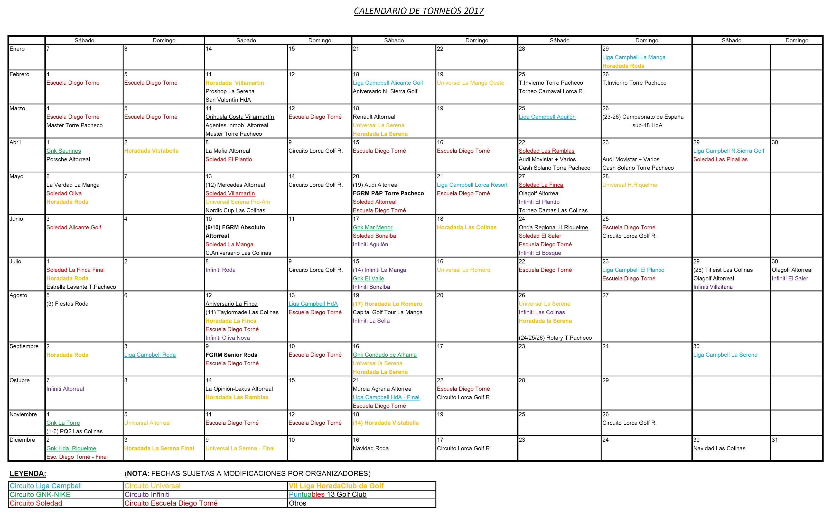 170228 Actualización de Calendario de Torneos
