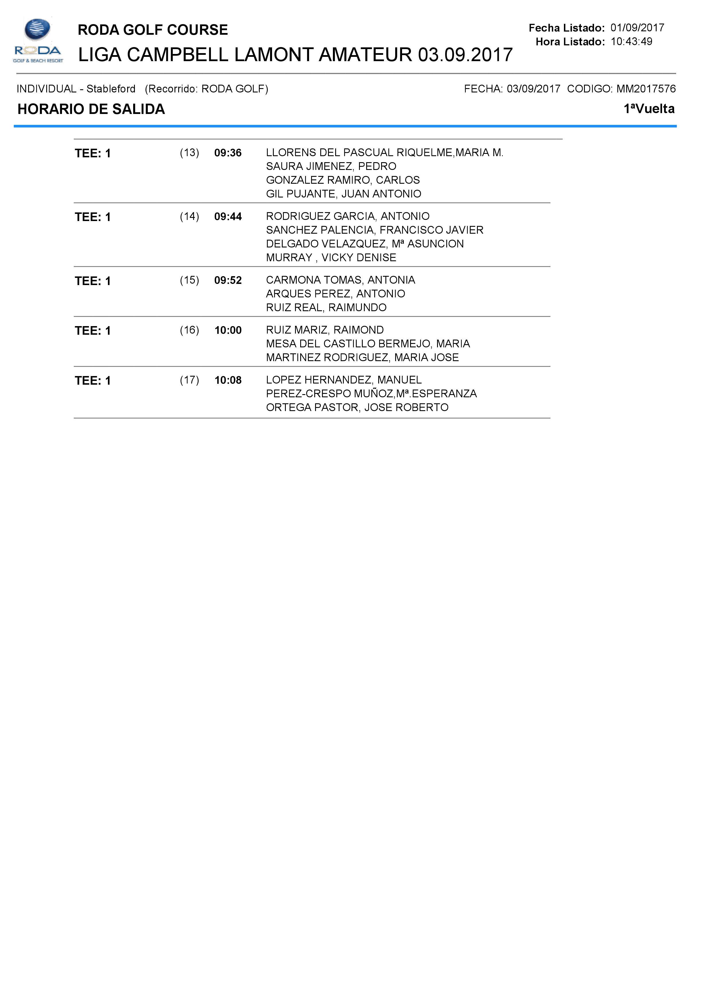 170903 ROD, Horario de salidas (2)