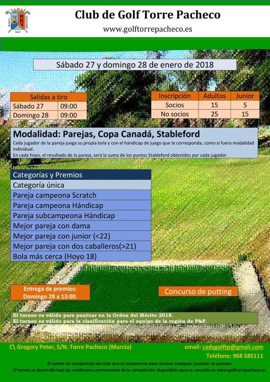 180128 TPA, Cartel del torneo