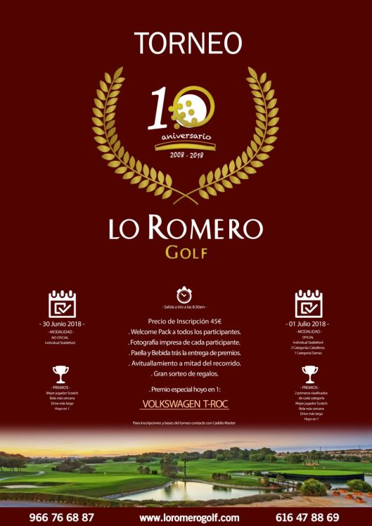 180701 LRO, Cartel del torneo