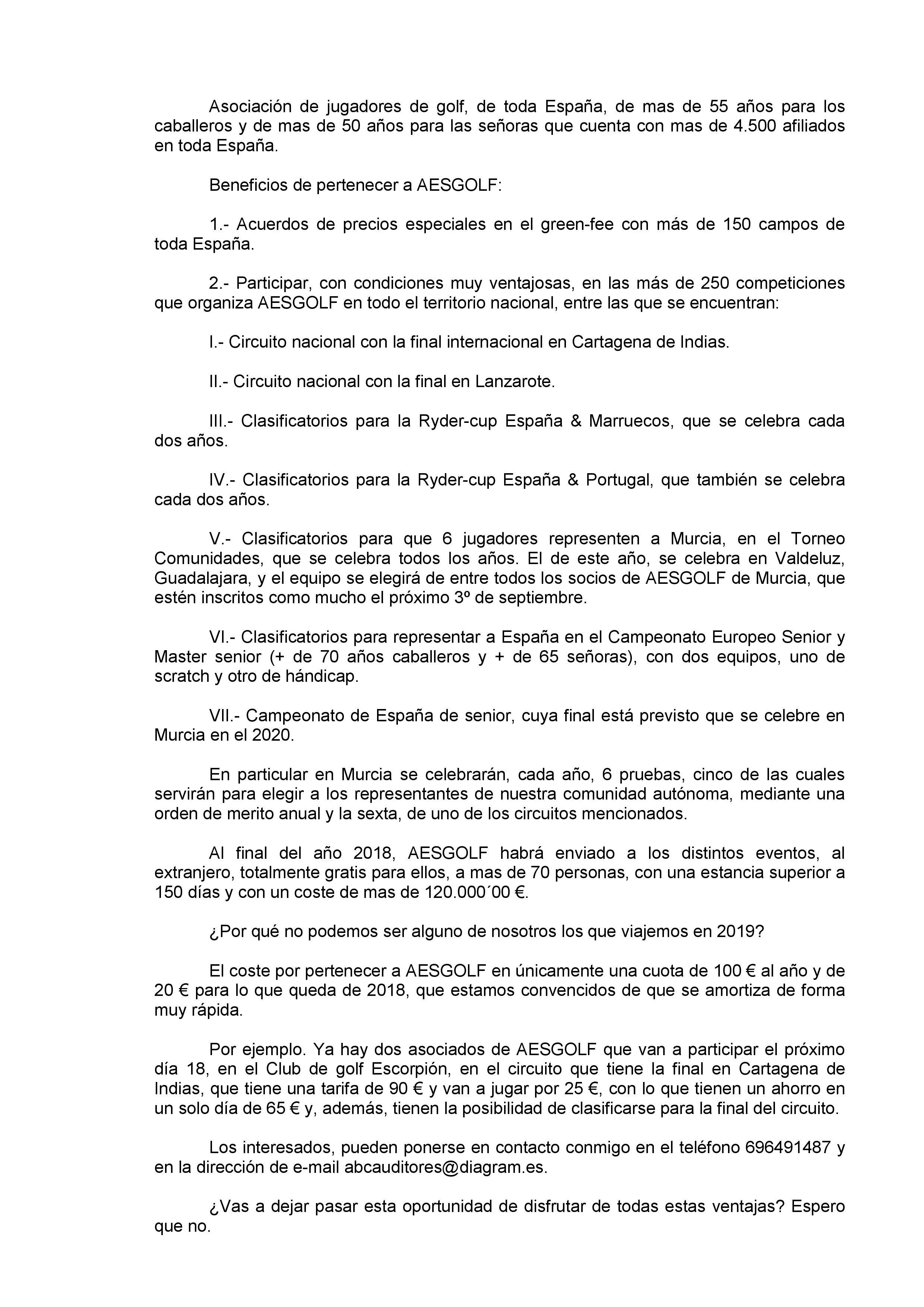 180906 ALT, Nota de Aesgolf
