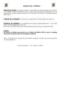 190331 TPA, Reglamento del torneo (2)
