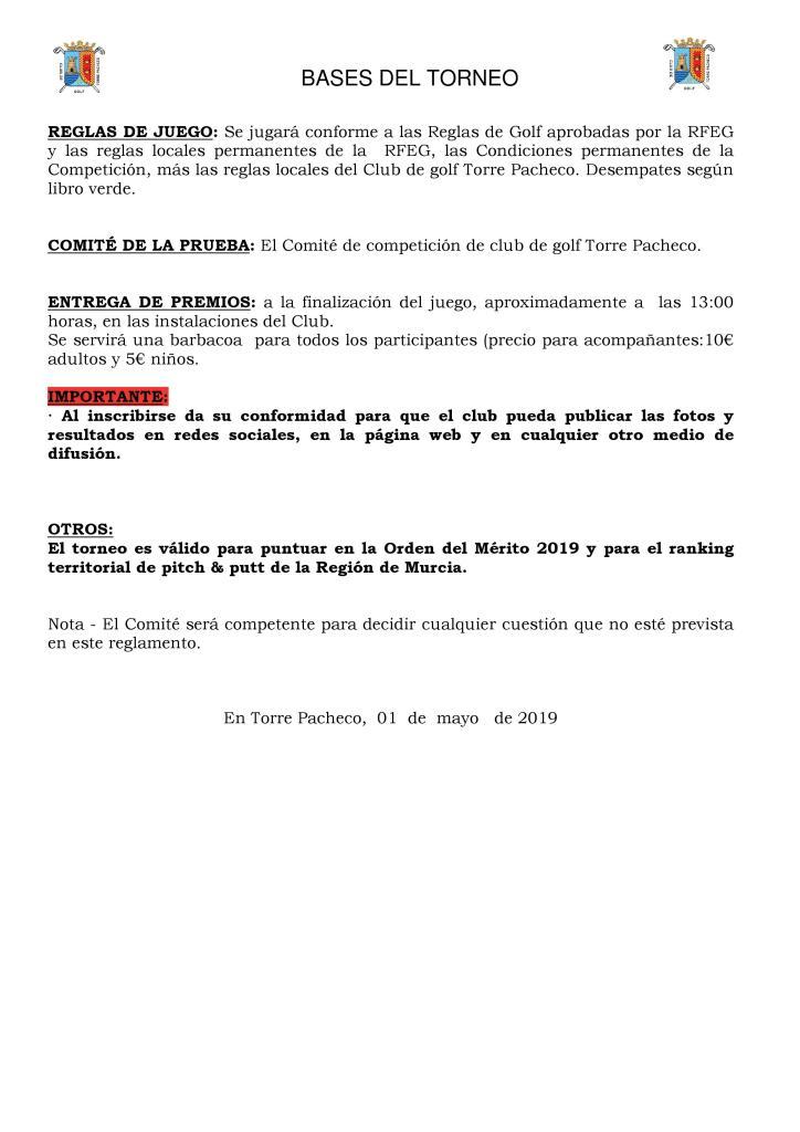 190526 TPA, Reglamento del torneo (2)
