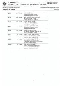 1900505 SER, Horario de salidas (1)